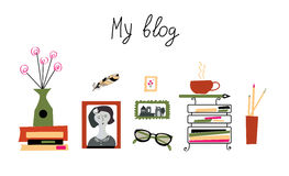 Blog banner for the photographer or writer Royalty Free Stock Image