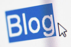 Blog, Bildschirm Lizenzfreies Stockfoto