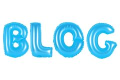 Blog, blauwe kleur Stock Foto