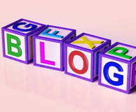 Blog Blocks Show Internet Marketing Opinion Royalty Free Stock Images
