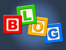 Blog Blocks Shows Childhood Blogging And Youths Stock Images