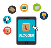 Blog and blogger social media design Stock Image