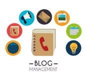 Blog and blogger social media design Royalty Free Stock Photos