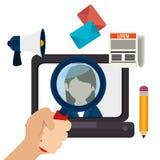 Blog and blogger social media design Stock Photography