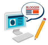 Blog and blogger social media design Royalty Free Stock Images