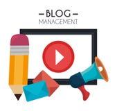 Blog and blogger social media design Royalty Free Stock Photo