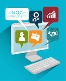 Blog and blogger social media design Stock Photo