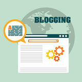 Blog, blogging and blogglers theme Stock Images