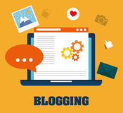 Blog, blogging and blogglers theme Royalty Free Stock Image