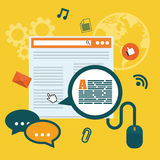 Blog, blogging and blogglers theme royalty free illustration