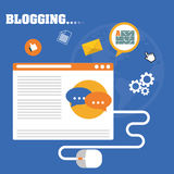 Blog, blogging and blogglers theme Royalty Free Stock Photos