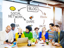 Blog Blogging Comunication Connect Data Social Concept Royalty Free Stock Photo