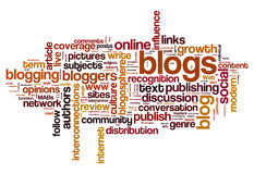 Blog and blogging concept background Stock Image