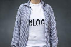 Blog- blogging concept. Stock Image