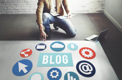 Blog Blogging Content Website Online Concept Stock Photos