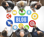 Blog Blogging Content Website Online Concept Royalty Free Stock Photography