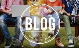 Blog Blogging Homepage Social Media Network Concept Stock Photos