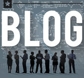 Blog-Blogging on-line-Design-Webseiten-Website-Konzept Stockbilder