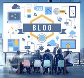 Blog-Blogging on-line-Internet-Konzept Lizenzfreies Stockbild