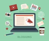 Blog Blogging Media Messaging Social Media Concept Stock Images
