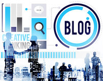 Blog Blogging Media Messaging Social Network Media Concept Royalty Free Stock Photo