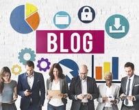 Blog Blogging Media Messaging Social Network Media Concept Stock Photo