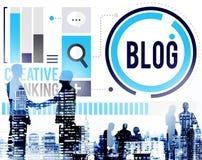 Blog Blogging Media Messaging Social Network Media Concept Royalty Free Stock Images
