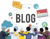 Blog-Blogging Medien-Mitteilungs-Social Media-Konzept Lizenzfreies Stockbild