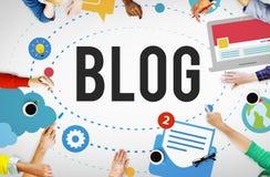 Blog-Blogging Medien-Mitteilungs-Social Media-Konzept Lizenzfreie Stockfotos