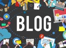 Blog-Blogging Medien-Mitteilungs-Social Media-Konzept Stockbild