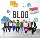 Blog-Blogging Medien-Mitteilungs-Social Media-Konzept Stockbilder