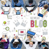 Blog Blogging Networking Digital Connection Concept Stock Image