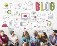Blog-Blogging Vernetzungs-Digital-Verbindungs-Konzept Lizenzfreie Stockbilder