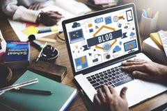 Blog-Blogging Website-Webseiten-Konzept Lizenzfreie Stockfotos