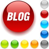 Blog button. Stock Image