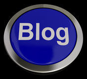 Blog Button In Blue For Blogger Or Blogging Website Royalty Free Stock Images