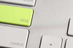 Blog Button stock photography