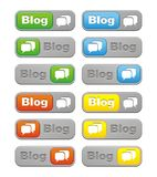 Blog button sets Stock Image