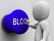 Blog Button Shows Online Expression Information Or Marketing Stock Photography