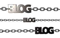Blog chains Stock Photography