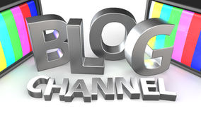 Blog Channel Tvs Stock Photo