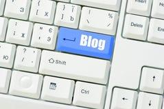 Blog chiave Immagini Stock