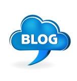 Blog cloud speech symbol Royalty Free Stock Images