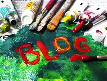 BLOG coloré Image stock