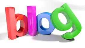 Blog coloré - rendu 3D Photographie stock