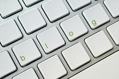 Blog computer keyboard Royalty Free Stock Image