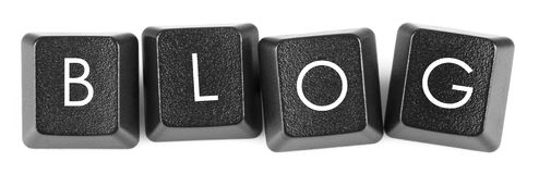 Blog - Computer-Schlüssel Stockfoto