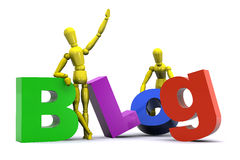Blog Concept. A Colourful 3d Rendered, Blog Concept Illustration Royalty Free Stock Photography