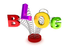Blog Concept. A Colourful 3d Rendered Blog Concept Illustration Royalty Free Stock Photography