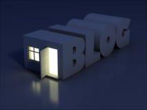 Blog concept. 3d rendered illustration Stock Images